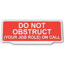 Univisor -DO NOT OBSTRUCT - UNV168