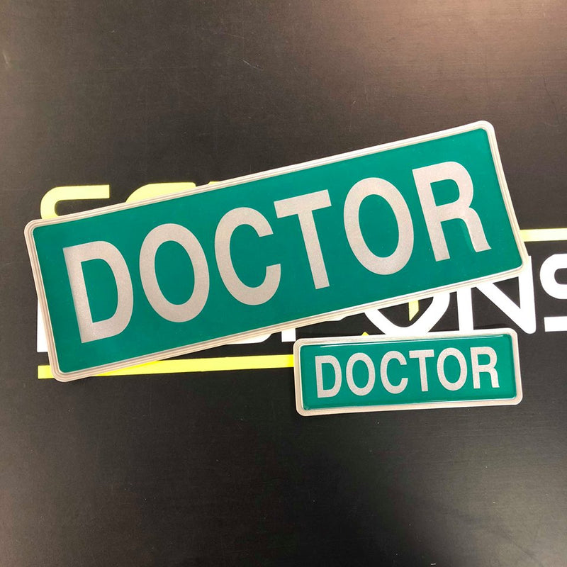 Reflective Badge - Doctor Style1 300 Set