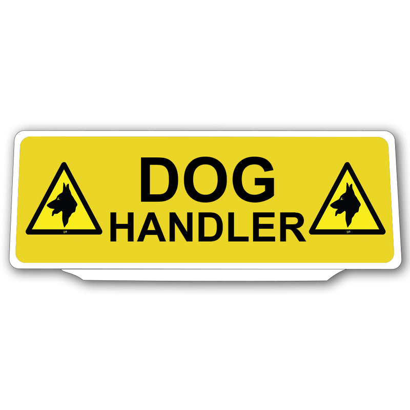 Univisor - Dog Handler with 2 Dog Logo - Yellow - UNV145