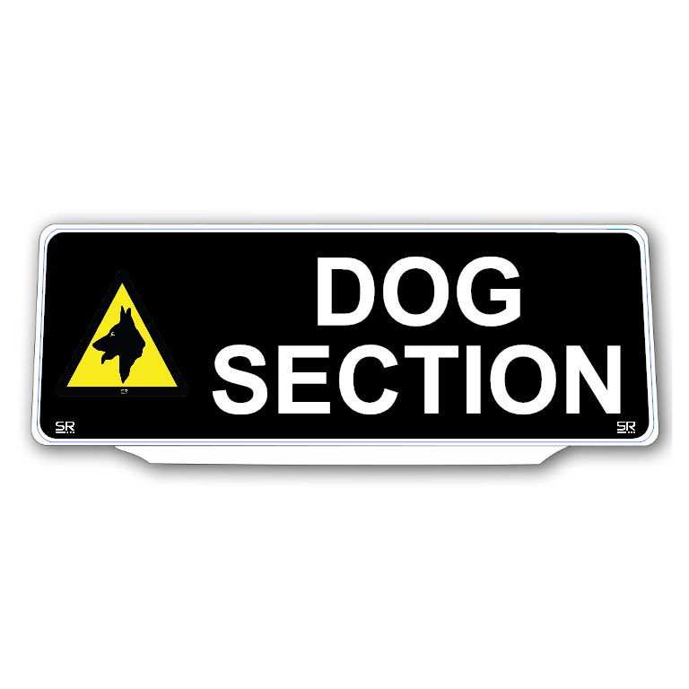 Univisor - DOG SECTION - Black Background with White Text and Logo - UNV329