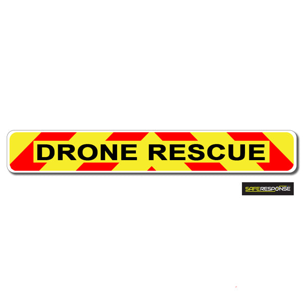 Magnet DRONE RESCUE Chevron Design Text (MG143)