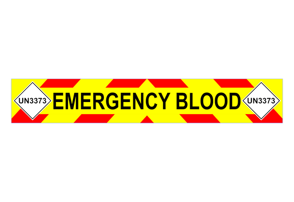 EMERGENCY BLOOD + UN3373 Chevron Design