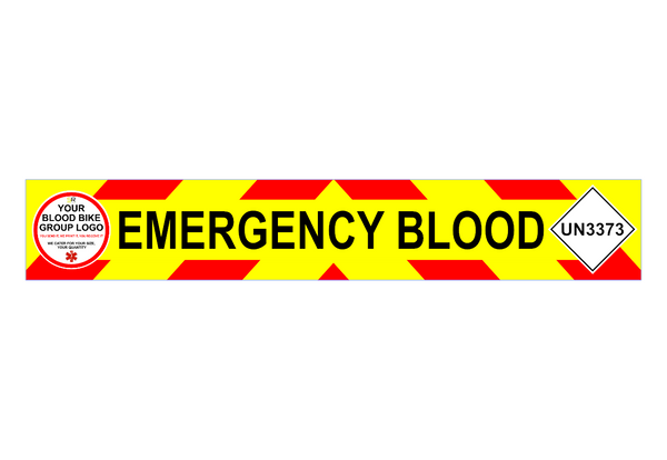 EMERGENCY BLOOD + UN3373 Chevron Design (Add your logo)