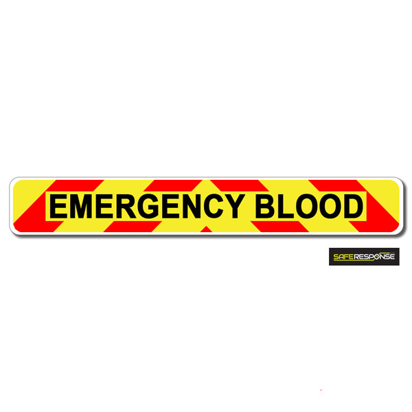 Magnet EMERGENCY BLOOD Chevron Design Text (MG134)