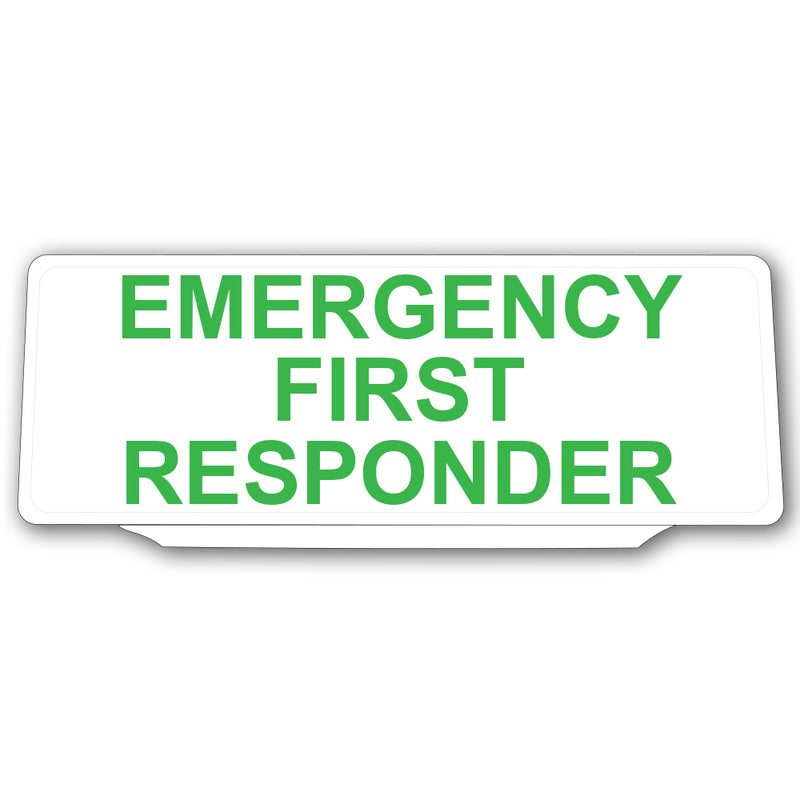 Univisor - Emergency First Responder - White with Green Text - UNV022