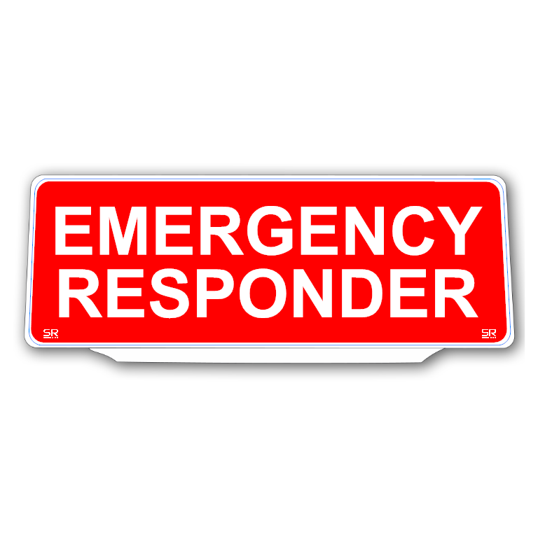 Univisor - EMERGENCY RESPONDER - Red Background White Text - UNV231