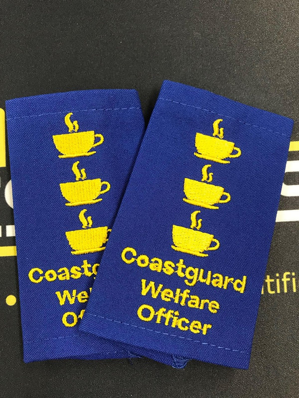 Epaulettes - Coastguard Welfare Officer - Blue - Pair - Funny Gift