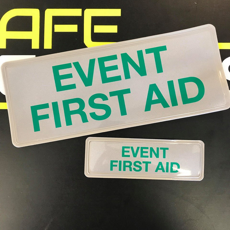 Reflective Badge - EVENT FIRST AID - Front & Rear Set 250mm