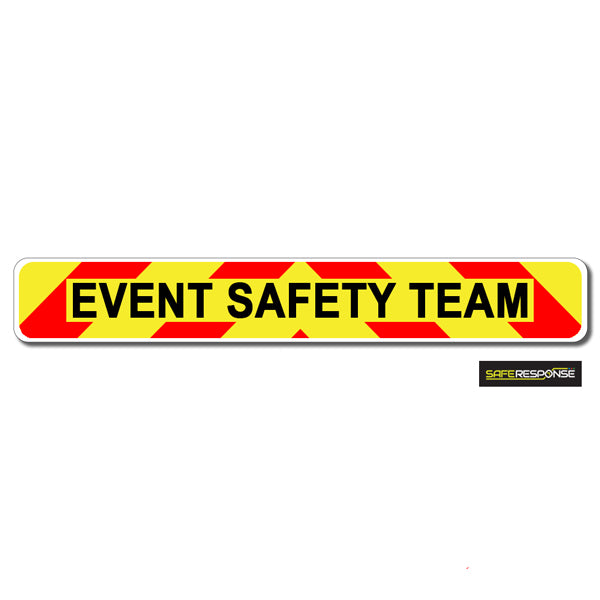 Magnet EVENT SAFETY TEAM Chevron Design Text (MG133)