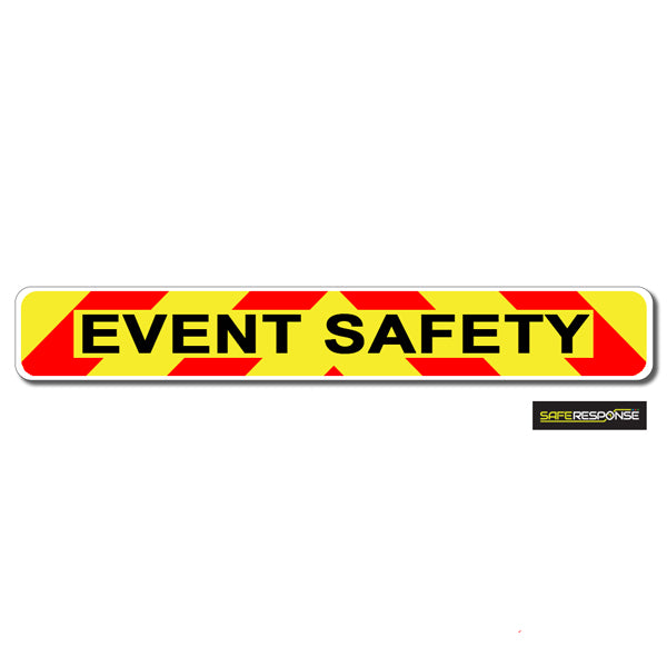 Magnet EVENT SAFETY Chevron Design Text (MG131)