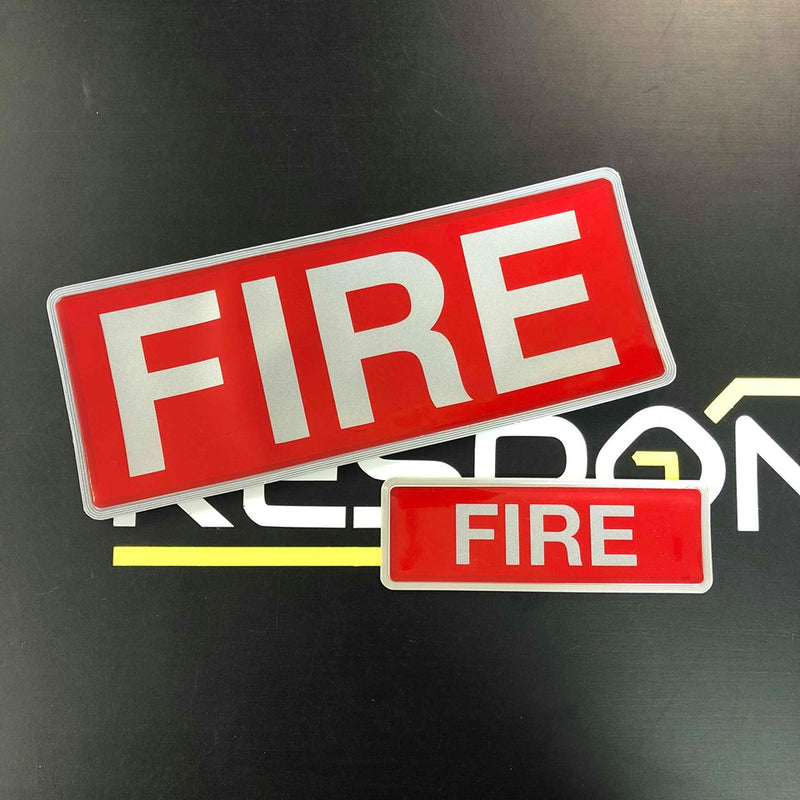 Reflective Badge - FIRE 250 Set