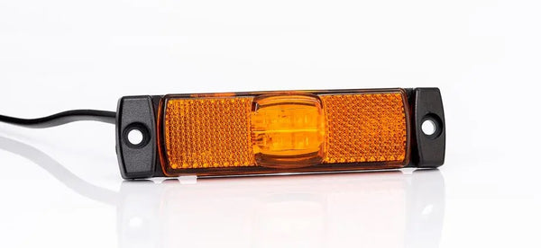 12v/24v Slim Line/Low Profile AMBER LED Rear Marker Lamp/Light FT-017Z