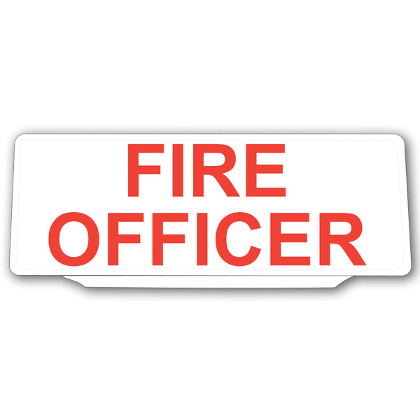 Univisor - Fire Officer - White with Red Text - UNV039