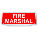 Univisor - FIRE MARSHAL - RED Background White Text - UNV245