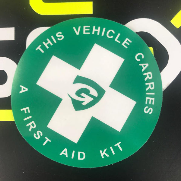 First Aid Kit on Board internal Window Sticker