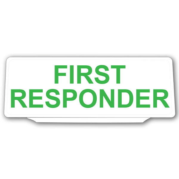 Univisor - First Responder - White with Green Text - UNV032