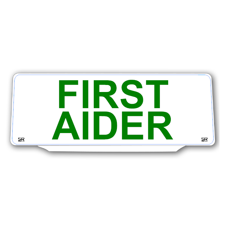 Univisor - FIRST AIDER - White Background Green Text - UNV290