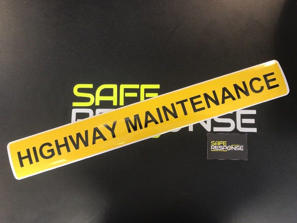 Magnetic Sign - HIGHWAY MAINTENANCE - 610mm - Yellow/Black MG082