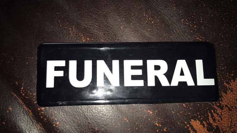 FUNERAL badge - Helmet or Blood Bike