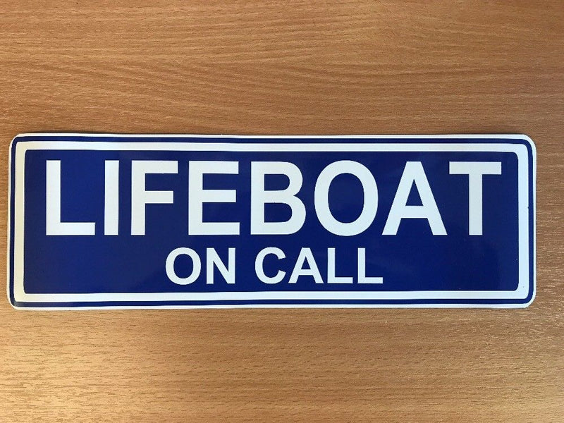 Magnet LIFEBOAT ON CALL - 300mm Blue x2 MG106
