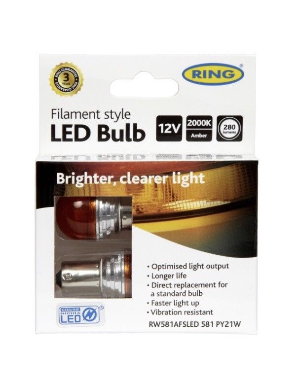 Ring Automotive - Filament LED 581 Amber