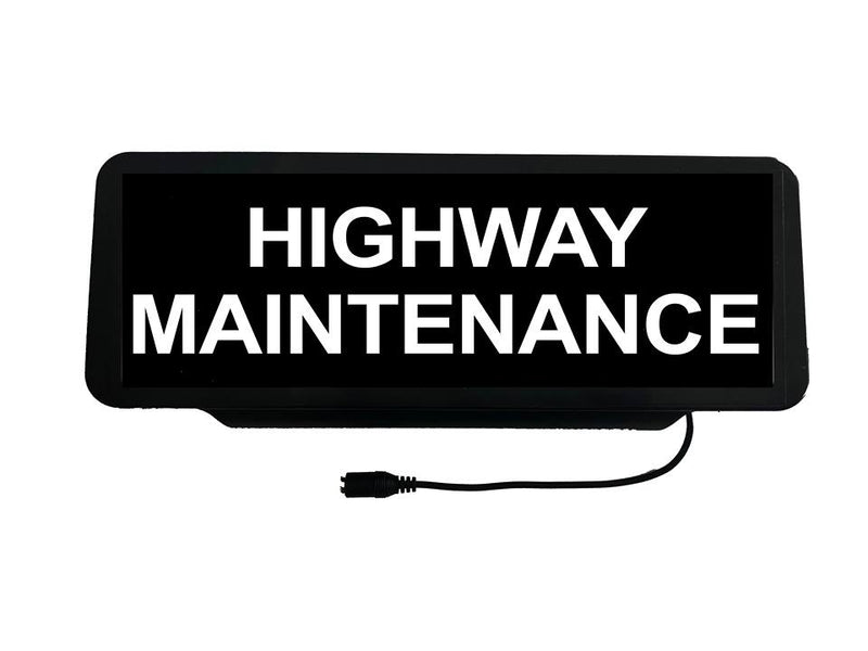 LED Univisor - Highway Maintanence - Black Background
