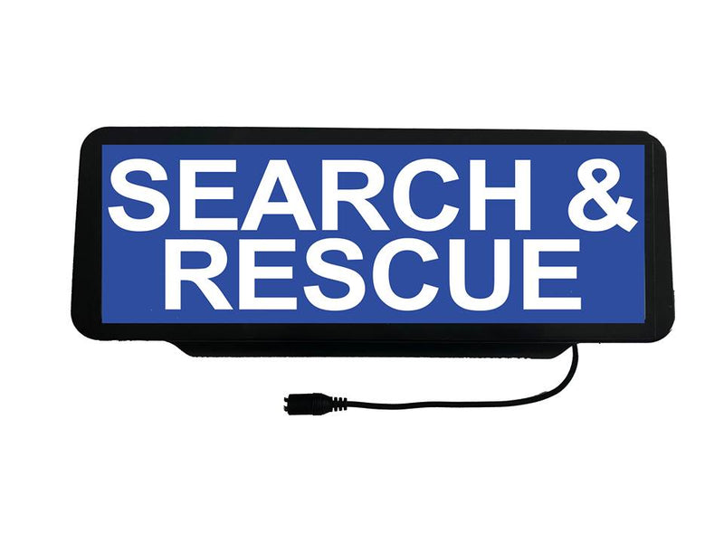 LED Univisor - Search & Rescue - Blue Background - LEDUNV-093