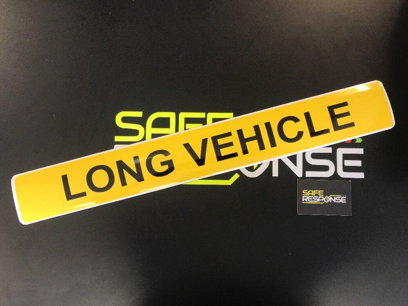 Magnetic Sign - LONG VEHICLE - 610mm - Yellow/Black MG081