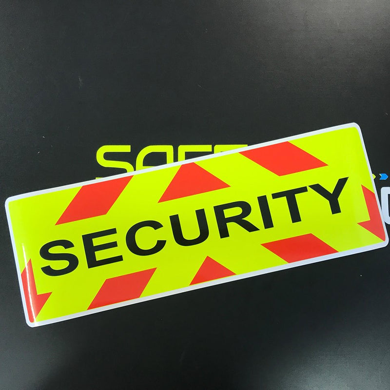 Security Magnet with Chevron Design 450x150mm (MG077)