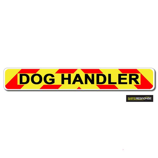 Magnet DOG HANDLER Chevron Design Text (MG122)