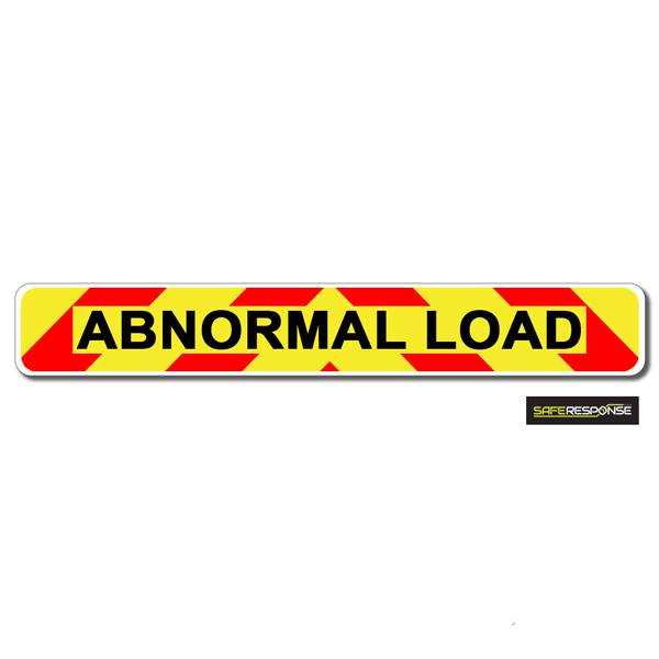 Magnet ABNORMAL LOAD Chevron Design Text (MG130)