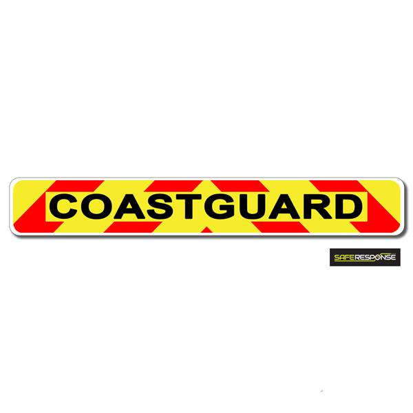 Magnet COASTGUARD Chevron Design Text (MG137)
