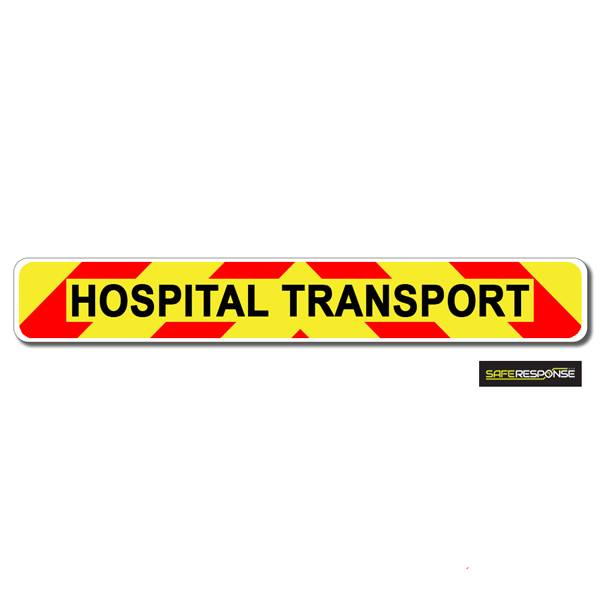Magnet HOSPITAL TRANSPORT Chevron Design Text (MG149)
