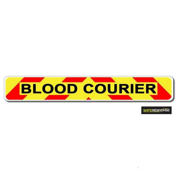 Magnet BLOOD COURIER Chevron Design Text (MG151)