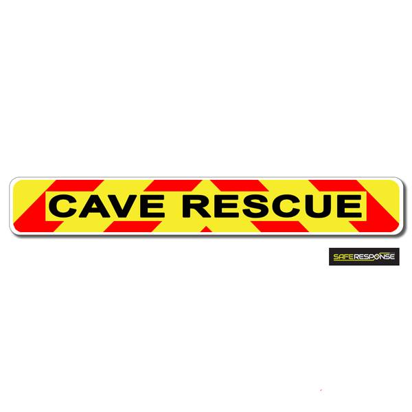 Magnet CAVE RESCUE Chevron Design Text (MG153)