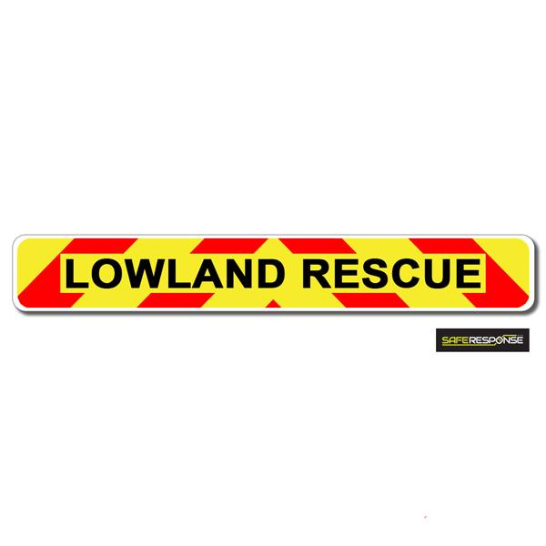 Magnet LOWLAND RESCUE Chevron Design Text (MG155)