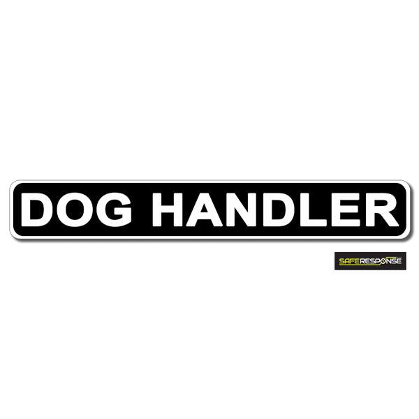 Magnet DOG HANDLER Black with White Text (MG158)