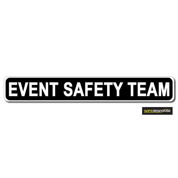 Magnet EVENT SAFETY TEAM Black with White Text (MG161)