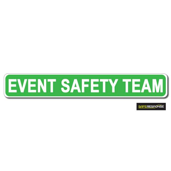 Magnet EVENT SAFETY TEAM Green with White Text (MG162)