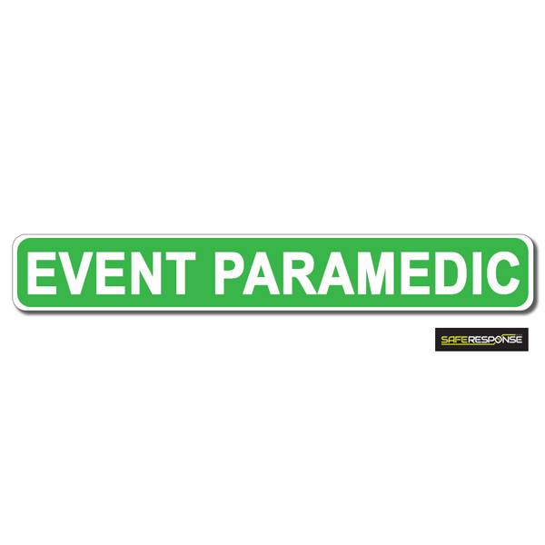 Magnet EVENT PARAMEDIC Green with White Text (MG165)