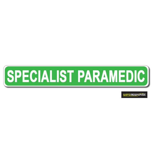 Magnet SPECIALIST PARAMEDIC Green with White Text (MG169)