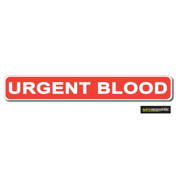 Magnet URGENT BLOOD Red with White Text (MG175)