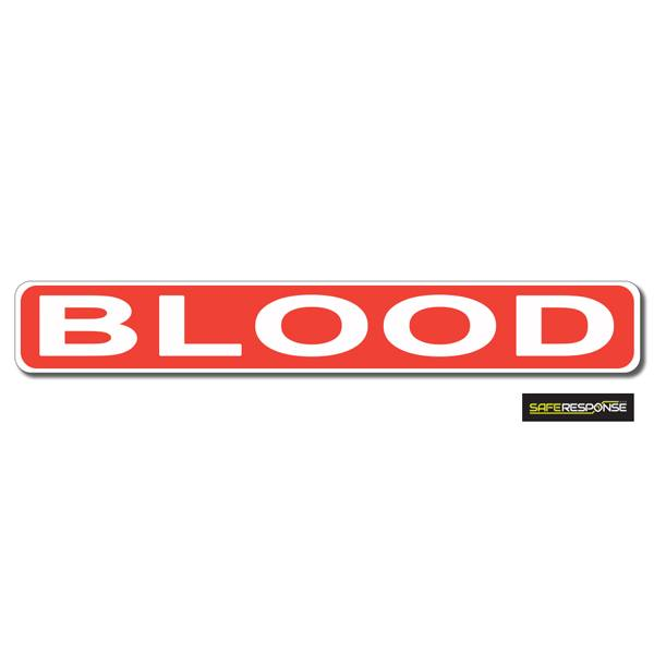 Magnet BLOOD Red with White Text (MG176)