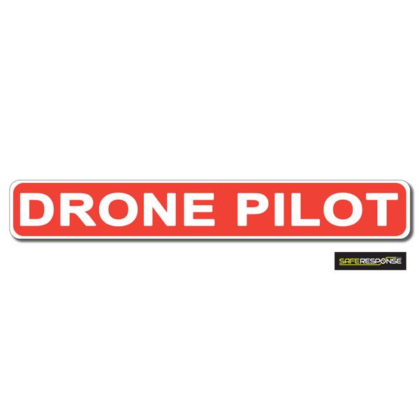 Magnet DRONE PILOT Red with White Text (MG182)