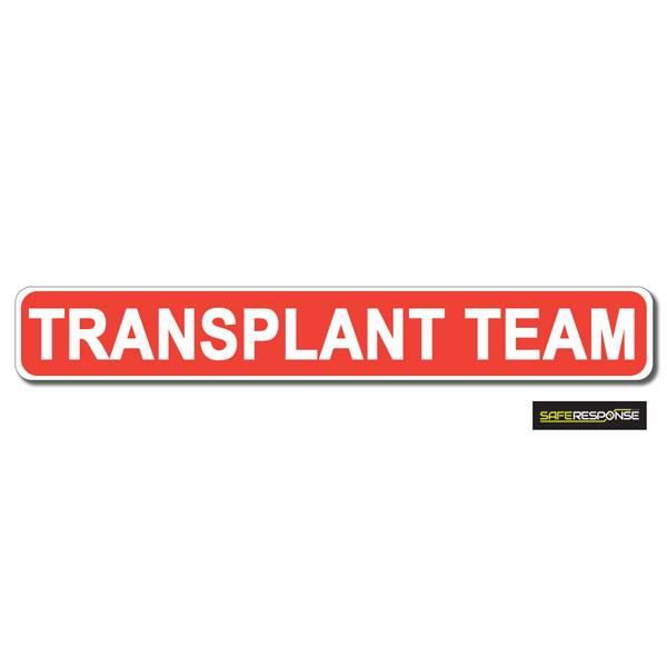 Magnet TRANSPLANT TEAM Red with White Text (MG187)
