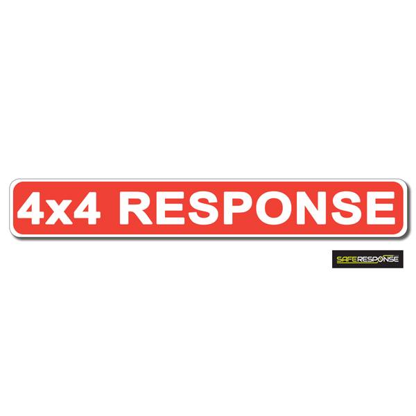 Magnet 4X4 RESPONSE Red with White Text (MG190)