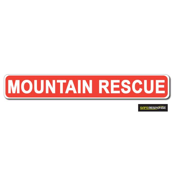 Magnet MOUNTAIN RESCUE Red with White Text (MG191)