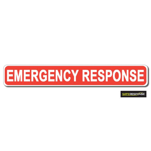 Magnet EMERGENCY RESPONSE Red with White Text (MG193)