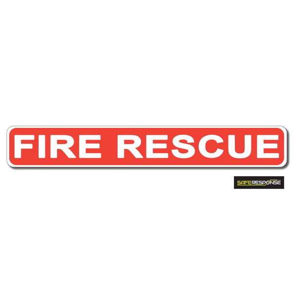 Magnet FIRE RESCUE Red with White Text (MG197)