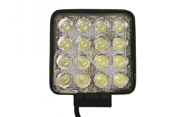 MP5058 10-30V 48W LED Work / Scene Light Lamp - 16x3W 3800lm Flood IP67
